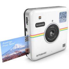 The New Vintage!   Polaroid Socialmatic 14MP Wi-Fi Digital Instant Print & Share Camera POLSMT01W, White