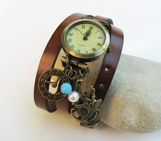 I m late leather wrap watch  by Cristalizade on Etsy