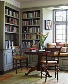 built in study nook | via prima hayter