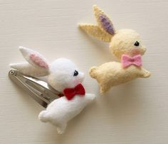 DiY : bunny barrette