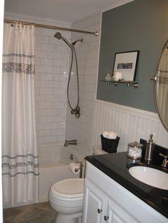 Bathroom on a budget, Small bathroom in a small condo., Bathrooms Design
