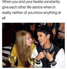 Ideas for hair quotes funny thoughts life Funny Best Friend Memes, Crazy Funny Memes, Really Funny Memes, Stupid Memes, Funny Relatable Memes, Funny Tweets, Haha Funny, Funny Jokes, Bff Quotes Funny