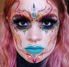 Colorful abstract makeup