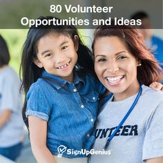 65 Volunteer Opportunities and Ideas. Use your interests to make a difference from home or with your church, school, business or group.