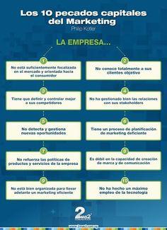Los 10 pecados capitales del Marketing según Kotler #infografia #infographic #marketing