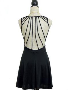 Ray Of Light Open Back Dress - Black