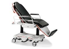 Hydro-pneumatic stretcher chair / height-adjustable / 3-section / on casters STRYKER