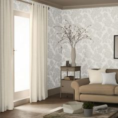 Wildflower Wallpaper is a bold and stunning floral damask design featuring flowers and fruit.  Luxurious and extremely elegant, it is a versatile choice for revitalising any living space.  Available in a range of colours.  FREE delivery Australia wide.  Available from www.silkinteirors.com.au #wallpaper #wallpaperforwalls #damask