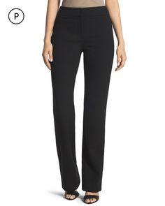Petite Wide-Leg Ponte Trouser Pants