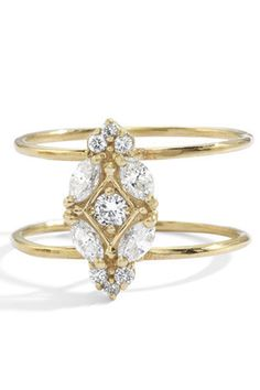 Blanca Monros Gómez Veno Amoris Nesting Ring, $2,950; blancamonrosgomez.com   - ELLE.com