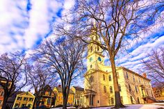 Once Upon A Time....the First Baptist Church in America was built. Founded by Roger Williams in Providence, RI in 1638. The present church building was built in 1775.  First Baptist Meetinghouse U.S. National Register of Historic Places U.S. National Historic Landmark Providence, RI  USA