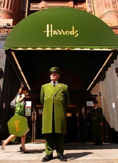 London ~ green awnings for a reason!  cha-ching!