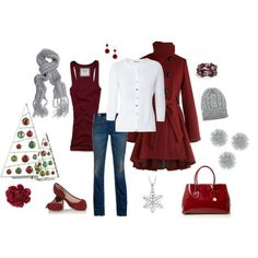 Christmas outfit idea!   Click image to find more Women's Fashion Pinterest pins