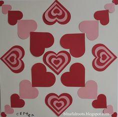 Symmetrical Valentine Art Project