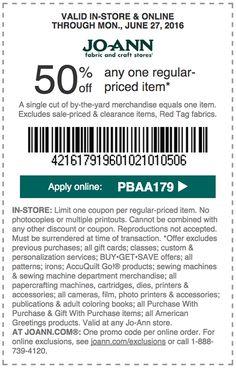 joann coupon discount