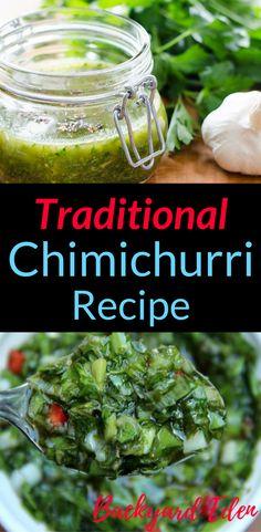 Traditional Chimichurri Sauce Recipe | Dinner Recipes | Sauce Recipes | Chimichurri Recipe | Easy Dinner Recipes | Healthy Recipes | Backyard-Eden.com