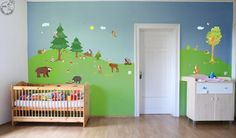 Wall decal Woodland XXL 21 animals forest animal Baby by MHBilder