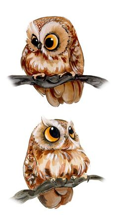 Ideas drawing animals owl illustrations for 2019 Cute Animal Drawings, Cute Drawings, Cute Owl Drawing, Owl Drawings, Drawing Animals, Buho Tattoo, Owl Illustration, Owl Pictures, Beautiful Owl
