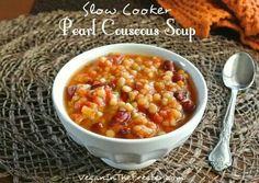 Pearl couscous soup