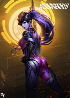 Overwatch Widowmaker, Fatale Overwatch, Overwatch Fan Art, Overwatch Tattoo, Game Character, Character Concept, Female Characters, Anime Characters, Akali League Of Legends