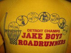 Road Runner, Vintage Tees, Champs, Paper Shopping Bag, Detroit