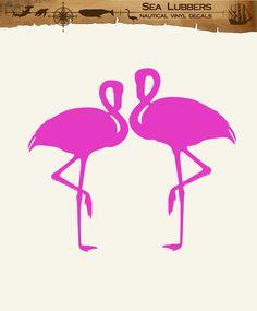 Flamingo Decor wall decal stickers, Tropical, nautical, coastal, Beach decoration