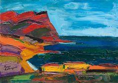 Pierre AMBROGIANI (1907-1985) Le Cap Canaille à Cassis. Huile sur toile. Signée en bas à gauche. 40 x 60 cm. - Leclere - Maison de ventes - 17/12/2011