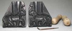 Berliner Zinnfiguren | Schneider/Replika: Aluminiumform: Pferd, gesattelt für Aufsitzer (Reiter), um 1900 | purchase online