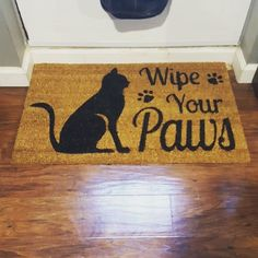 After 3 years, we had to replace our door mat. We kept the same sentiment, but went with a slightly cuter design. #crazycatlady #catsofinstagram #instakitty #catmom