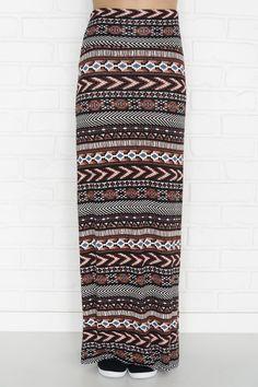 Terracotta print maxi skirt - New Arrivals