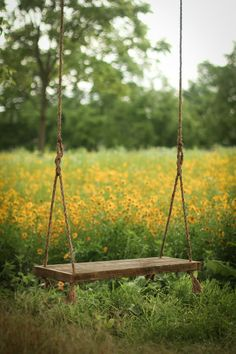 Reclaimed wood bench swing – Hanging rope swing – Rustic barn wood – Backyard porch – Country summer fun – Photo prop - sloped back yard landscaping