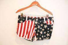 usa shorts american flag cutoff jean shorts