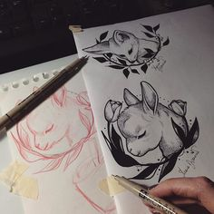 petit Agneau ✌️ #babygoat #tattoo #goat #sheep #dotwork
