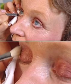 Makeup Tutorials for Blue Eyes -Lisa Eldridge's Make Up Tips: Bronze Eyeshadow for Blue Eyes - 10 Years Younger -Easy Step By Step Beginners Guide for Natural Simple Looks, Looks With Blonde Hair Colour and Fair Skin, Smokey Looks and Looks for Prom https://thegoddess.com/makeup-tutorials-blue-eyes