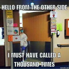 Isolation Problems! #nurse #respiratory #therapist #hospital #adele Lol!!