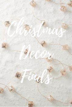 My Christmas decor finds. ★  rose-tinted.com