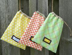 drawstring bag {a tutorial} - These would be great for storing toys with lots of pieces and puzzles