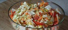 Best salad you can imagine! Healthy Desserts, Healthy Recipes, Pizza Lasagna, New Recipes, Cooking Recipes, Guacamole, Vegan Vegetarian, Potato Salad, Cabbage