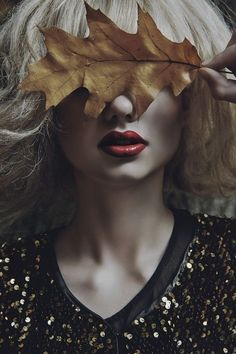Love the element of nature and the intense focus on the lipstick. Great for makeup photography /sarahstylez7/