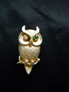 Owl Brooches Scatter Pin Winking Owl Vintage by greenleafvintage1, $12.99