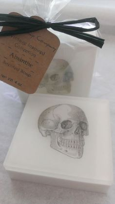 Vintage Inspired Skull Soap  Absinthe by DallasSoapCompany on Etsy