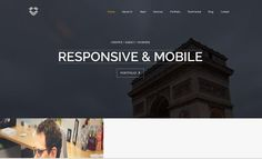 Video Background Bootstrap Template by dougborton on @creativemarket