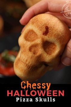 These cheesy Pizza Skulls are about to become your new favorite Halloween savory recipe. These tasty pizza pockets are easy to make, completely customizable and a fun dish to serve at a Halloween party or to your kids during the holiday season.