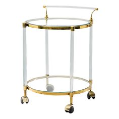 VINTAGE FRENCH LUCITE AND BRASS CART | 1960 - $3600.
