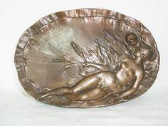 Jugendstil Bild,Wandbild aus Bronze