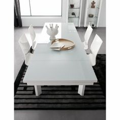 Penta Table with Extensions - White - Dining Tables at Hayneedle