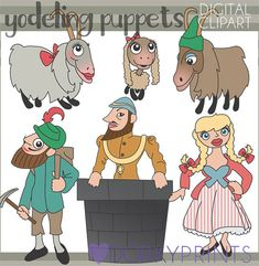 Yodeling Puppet Clipart Personal and Limited Commercial