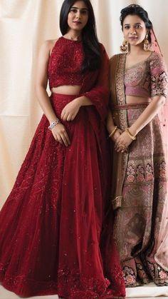 Red Lehenga, Indian Lehenga, Lehenga Choli, Sarees, Latest Traditional Dresses, Traditional Outfits, Choli Designs, Lehenga Designs, Indian Gowns Dresses