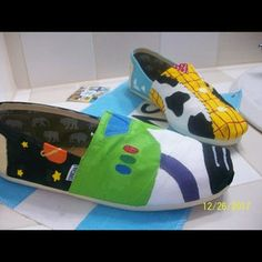 #toms #toystory #shoes OMG I have never seen anything so perfect!!!!  Want want want.