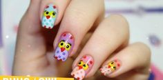Uñas decoradas con Buhos, nuestro segundo video tutorial!